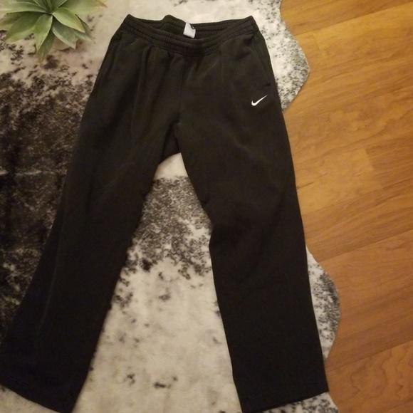 8454fb41599e1d Nike Pants | Mens Fleece Sweat Blackwhitesize L | Poshmark